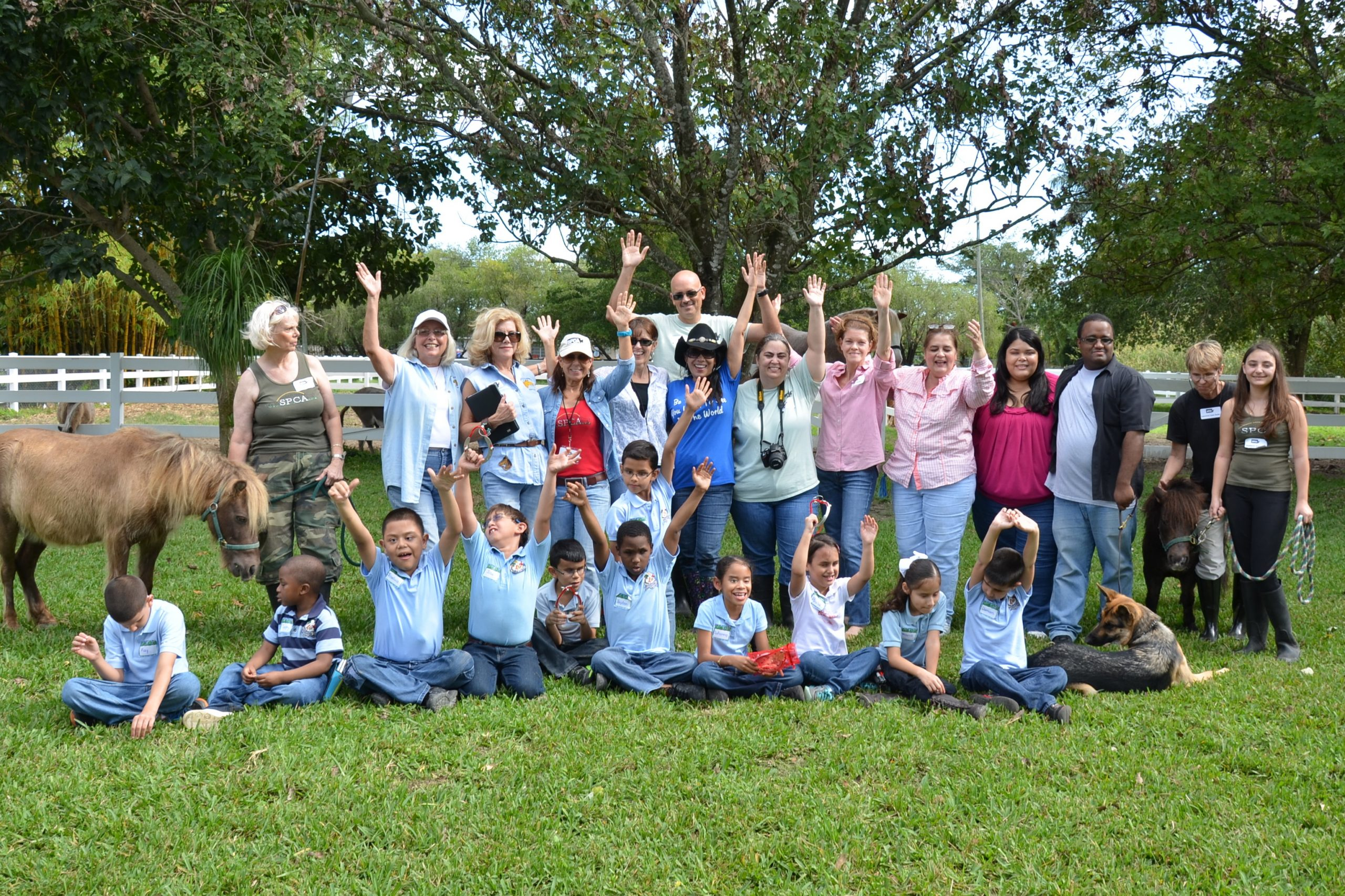 South Florida SPCA Horse Rescue hosted 11 blind children